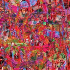 Abstract art of colorful digital collage with good color and texture. Digital Collage, Digital Art, Frozen In Time, All Wall, Fine Art America, Abstract Art, Instagram Images, Greeting Cards, Design Inspiration