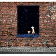 CALVIN AND HOBBES OUTER SPACE STARS ARTWORK POSTERS
