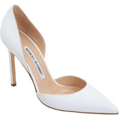 a7f602433023 These leather pointed toe d Orsay pumps from Blahnik Tayler are made of  chic