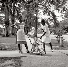 """August 1940. """"Port Gibson, Mississippi."""" Medium-format nitrate negative by Marion Post Wolcott for the Farm Security Administration."""
