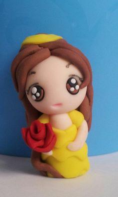 Chibi Belle | Princess Belle chibi Polymer clay disney http://www.pinterest.com/leor780/pins/