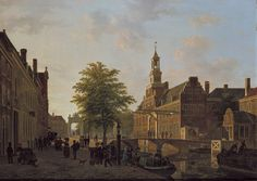 Flemish landscape painting of XIXth century