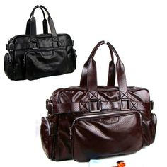 Brand Men's duffel bag faux leather luggage traveling large capacity handbag Black Coffee Free Shipping ZA0011/R