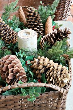 Winter basket Christmas basket