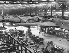 "apostlesofmercy: "" Production of the Stirling heavy bomber at the Shorts & Harland Belfast factory. Air Force Aircraft, Ww2 Aircraft, Royal Australian Air Force, Tech Background, Royal Air Force, Stirling, Wwii, Aviation, British"