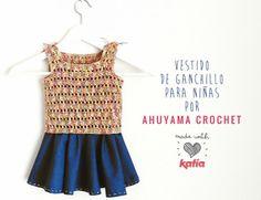 Craft Lovers ♥ Vestido para niñas por Ahuyama Crochet | http://www.katia.com/blog/es/craft-lovers-vestido-ninas-ahuyama-crochet/