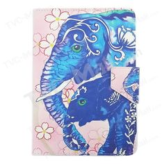 Baby Elephant and Mother Universal Leather Cover for Amazon Fire HD 7 / Samsung Galaxy Tab 3 Lite 7.0 T110, Size: 20 x 13cm