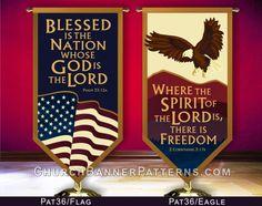 Patriotic Church Banner Patterns