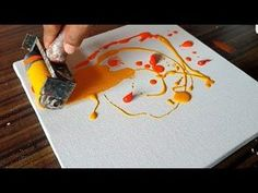 Making of Abstract Painting / Using Brayer and Acrylics / EASY / Project 365 days / Day #078 - YouTube