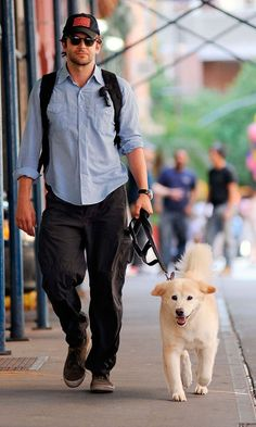 Bradley Cooper and his best friend...who could resist this?