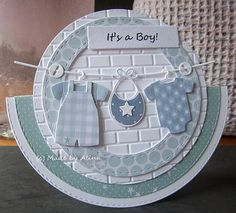 card baby clothes kid childen boy welcome birthday clothesline MFT Bundle of baby clothes Die-namics #mftstamps