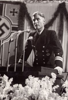 ✠ Joachim Schepke, one of Germany's most capable of U-boat commanders. On March 9th 1941 Schepke left Kiel on what was to be his last patrol. His U-100 was incapacitated  by depth charges. An allied destroyer then purposely rammed the crippled U-boat, killing Schepke and most of his crew. Seventh recipient of the Knight's Cross of the Iron Cross with Oak Leaves.