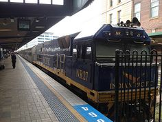 Indian Pacific train at Central Station, Sydney.  So called because it travels from Sydney which is on the Pacific Ocean then travels across Australia to Perth on the Indian Ocean.
