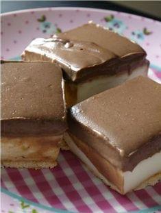 Fenomenálna MONTE torta bez pečenia *** Recept zde : www. Sweet Recipes, Cake Recipes, Dessert Recipes, Bosnian Recipes, Croatian Recipes, Delicious Desserts, Yummy Food, Toffee Bars, Kolaci I Torte