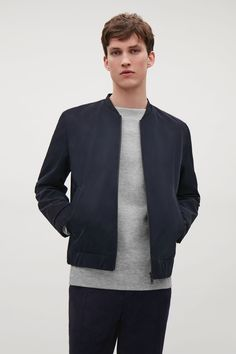 COS image 2 of Technical twill jacket in Navy
