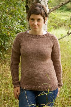 Flax Pullover sweater beginner knit pattern