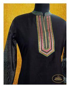 Black Kurta w/GotaPatti -Indian Ethnic Fashion