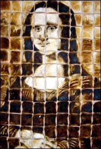 Mona Lisa a la toast Pizza Wedding, Mona Friends, Mona Lisa Parody, Messy Desk, Classic Artwork, Many Faces, West Midlands, Edible Art, Sculpture Art