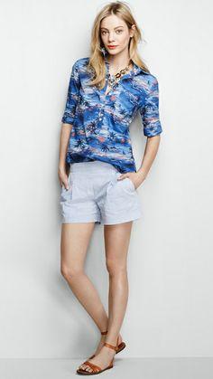 Shirt: http://popsu.gr/tmpd, shorts: http://popsu.gr/swAH, necklace: http://popsu.gr/tmpe, sandals: http://popsu.gr/tmpf