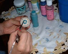 Make your own knobs for your cabinets!!! Super cool, we almost did this!