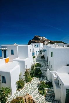 """luxuryaccommodations: """"Anemomilos Apartments - GreeceEnjoying a postcard-perfect cliffside setting on the small Greek island of Folegandros, Anemomilos Apartments is a chic boutique hotel with charming rooms, swimming pool, and delicious food. Greek Island Tours, Greek Islands, Greece Vacation, Greece Travel, Places To Travel, Places To Visit, Places Worth Visiting, Luxury Accommodation, Small House Design"""