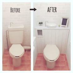 Interior Home Design Trends For 2020 - New ideas Small Toilet Room, Small Bathroom, Basement Toilet Pump, Tiny Half Bath, Kitchen Storage Hacks, European Home Decor, Diy Furniture Projects, Bathroom Inspiration, Home Decor Accessories