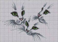 Hobby lavori femminili - ricamo - uncinetto - maglia: Schema punto croce tre…