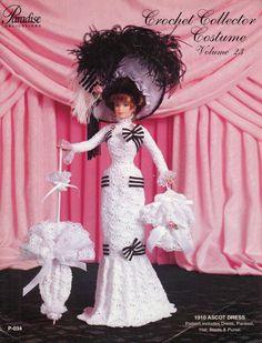 146. Barbie fashion doll dress-crochet pattern in pdf, Fashion lady dress pattern in pdf by Vandihand on Etsy