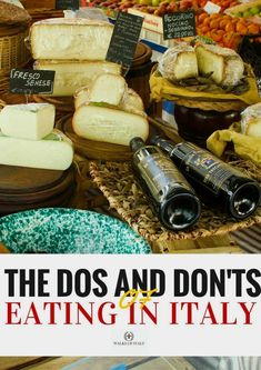 Italian food in a Florence food market. Find out how to get your money's worth and not get ripped off eating in Italy with the Walks of Italy guide to Italian food. #ItalyTravel