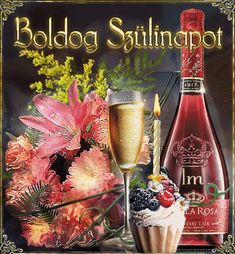 Happy Brithday, Champagne Bottles, Birthday Wishes, Happy New Year, Special Occasion, Alcoholic Drinks, Birthdays, Sweet, Wine