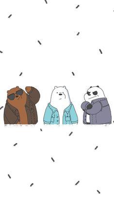 We bare bears! Bear Wallpaper, Kawaii Wallpaper, Cute Wallpaper Backgrounds, Wallpaper Iphone Cute, Disney Wallpaper, We Bare Bears Wallpapers, Panda Wallpapers, Cute Cartoon Wallpapers, Ice Bear We Bare Bears