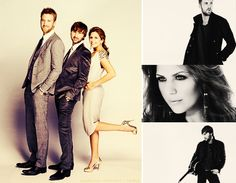 Lady Antebellum. My favorite singing group, I also have a crush on the guy on the far left!