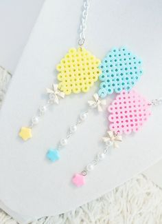 Perler Pastel Balloons Necklace.  via Etsy.