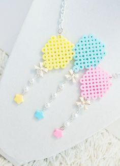 Perler Pastel Balloons Necklace.  via Etsy.
