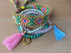 Vrolijke armband in Ibiza style (Juf Saartje)