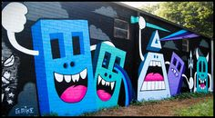Happy shapes mural