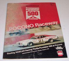 Great for that racing buff #Nascar #PoconoRaceway Vintage Program Book 1975 Purolator Race #Winston Racing