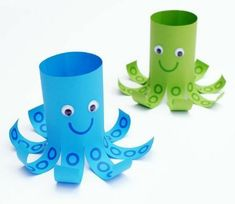 Creative and Fun Toilet Paper Roll Crafts Kids Will Love Making This! Creative and Fun Toilet Paper Roll Crafts Kids Will Love Making This! - Creative ideas about paper crafts. Creative paper crafts for kids! Under The Sea Crafts, Under The Sea Theme, Under The Sea Decorations, Under The Sea Party, Craft Activities, Preschool Crafts, Fun Crafts, Party Crafts, Creative Crafts