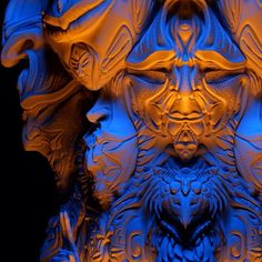 Some lighting effects on 'Vishvarupa' zbrush model ...soon to be 3D printed