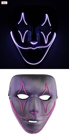 - Maschera Jabbawockeez per adulto EL Wire Jester viola SnowDesigns, maschere dipinte professionalmen - Diy Halloween Costumes For Women, Halloween Cosplay, Halloween Masks, Halloween Diy, Halloween Makeup, Halloween 2017, Halloween Stuff, Purge Mask, Light Up Costumes