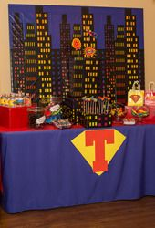 I know its a Super Hero Birthday but i like the back drop. Could come in handy.