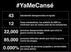 #YaMeCansé de vivir en un país donde gobierna la inseguridad.