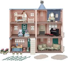 Sylvanian Families 5504 Deluxe Celebration Home Premium Set Doll House Playsets - Amazon Exclusive: Amazon.co.uk: Toys & Games Big Houses, Play Houses, Toys For Girls, Kids Toys, Big Doll House, Calico Critters Families, Waffle House, Bed Lights, 35th Anniversary