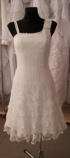 Knitted wedding dress
