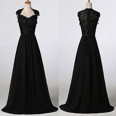 Vintage-Long-Evening-Formal-Party-Ball-Gowns-BRIDAL-Lace-Masquerade-Prom-Dresses