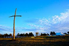Took this at my ranch, oh the beauty of the cross