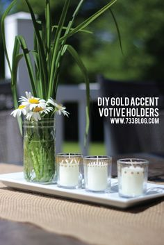 Gold Accent Votive Holders