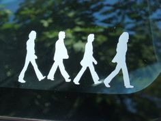 The Beatles Abbey Road Vinyl decal by ReSpinIt on Etsy