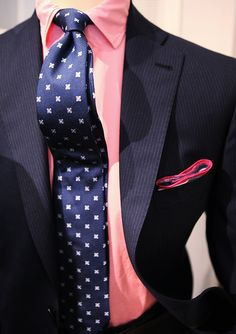 Navy and Pink.
