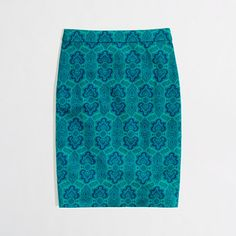 Gorgeous! And on sale!  J. Crew Factory printed pencil skirt in stretch cotton